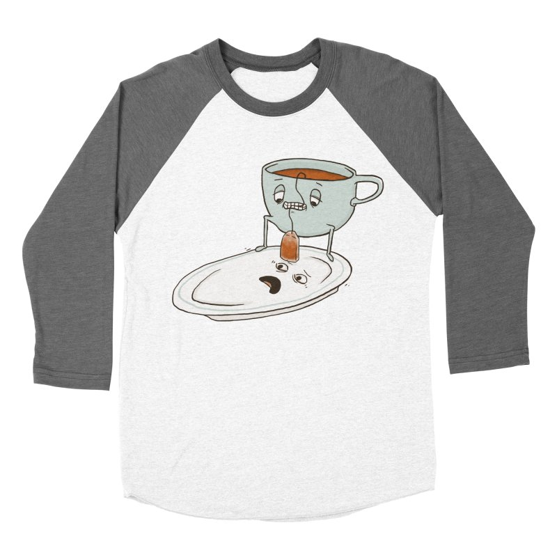 Tea Baggin' Women's Baseball Triblend T-Shirt by Phildesignart