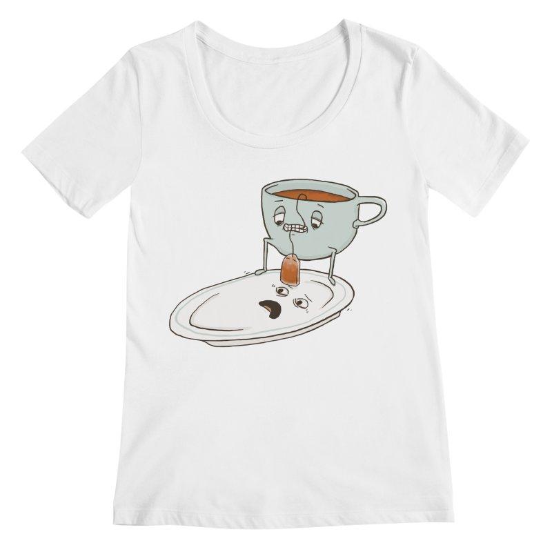 Tea Baggin' Women's Regular Scoop Neck by Phildesignart