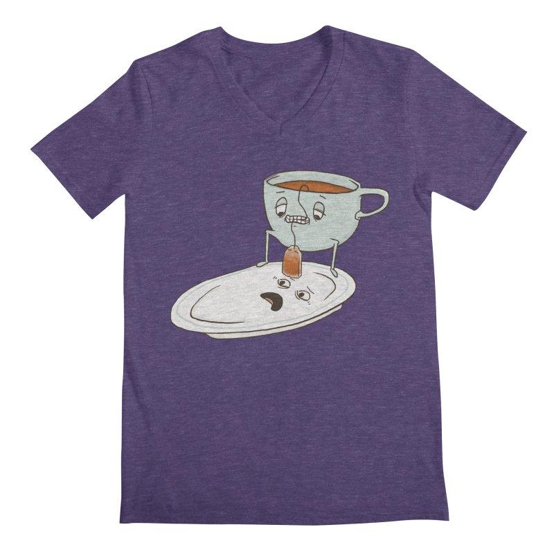 Tea Baggin' Men's Regular V-Neck by Phildesignart