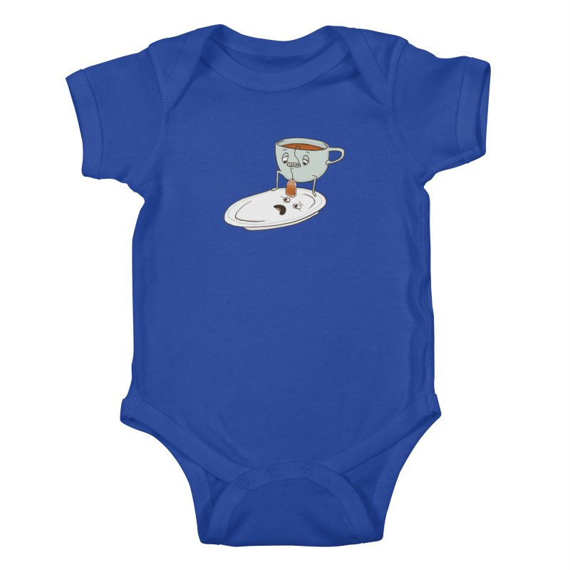 Tea Baggin' Kids Baby Bodysuit by Phildesignart