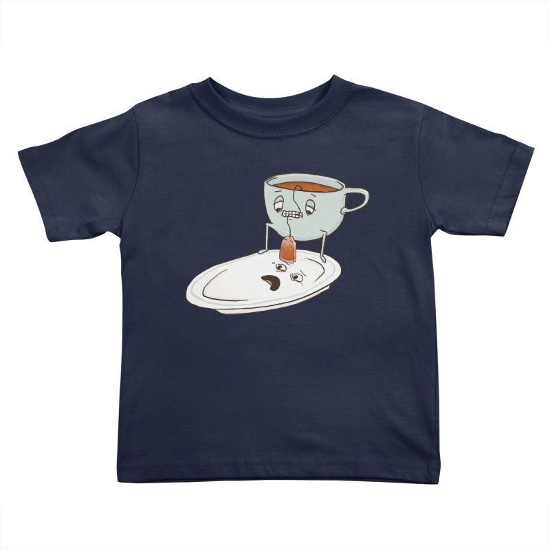 Tea Baggin' Kids Toddler T-Shirt by Phildesignart