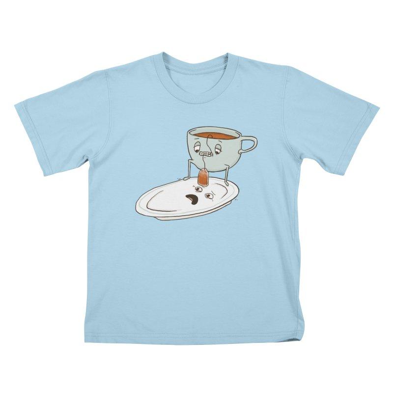 Tea Baggin' Kids T-Shirt by Phildesignart