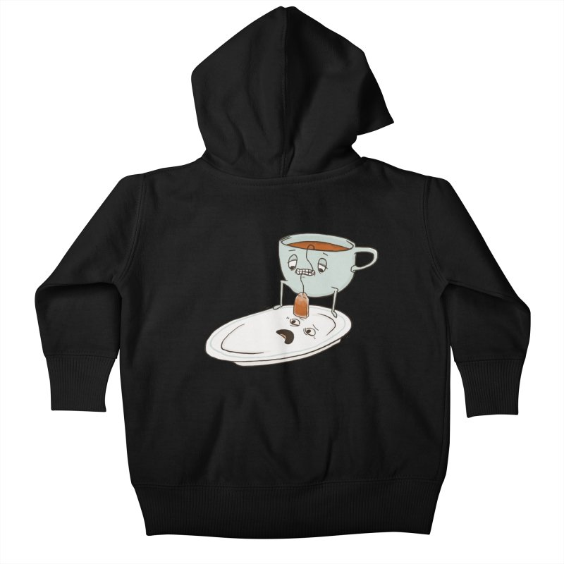 Tea Baggin' Kids Baby Zip-Up Hoody by Phildesignart