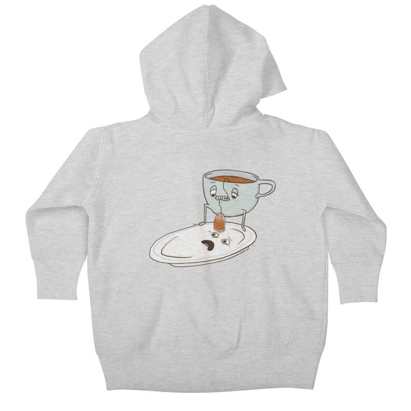 Tea Baggin' Kids Baby Zip-Up Hoody by phildesignart's Artist Shop