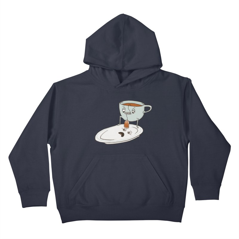 Tea Baggin' Kids Pullover Hoody by Phildesignart