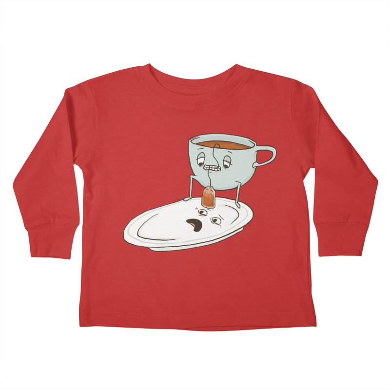 Tea Baggin' Kids Toddler Longsleeve T-Shirt by Phildesignart