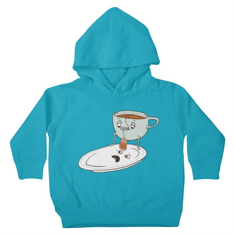 Tea Baggin' Kids Toddler Pullover Hoody by Phildesignart