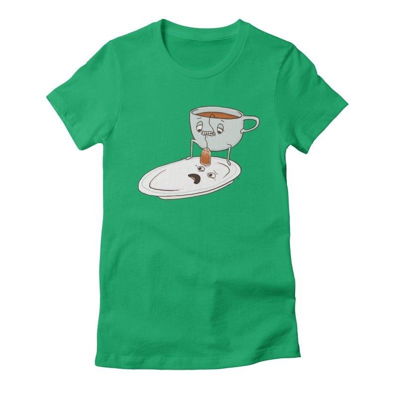 Tea Baggin' Women's Fitted T-Shirt by Phildesignart