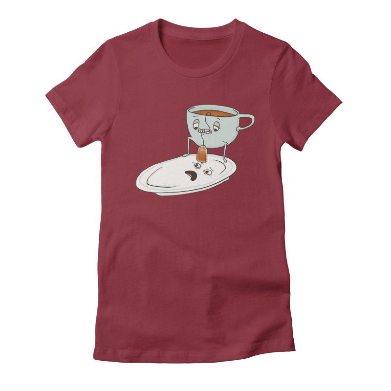 Tea Baggin' Women's Fitted T-Shirt by phildesignart's Artist Shop