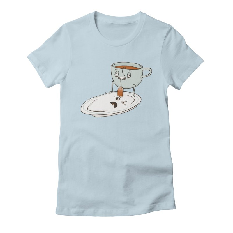 Tea Baggin' Women's Fitted T-Shirt by Phildesignart