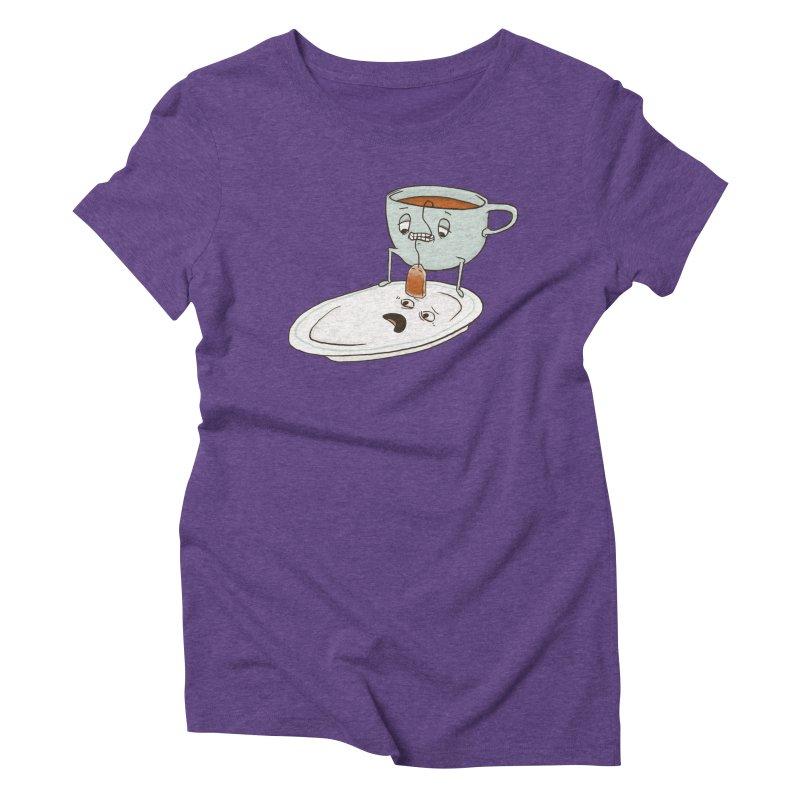 Tea Baggin' Women's Triblend T-Shirt by Phildesignart