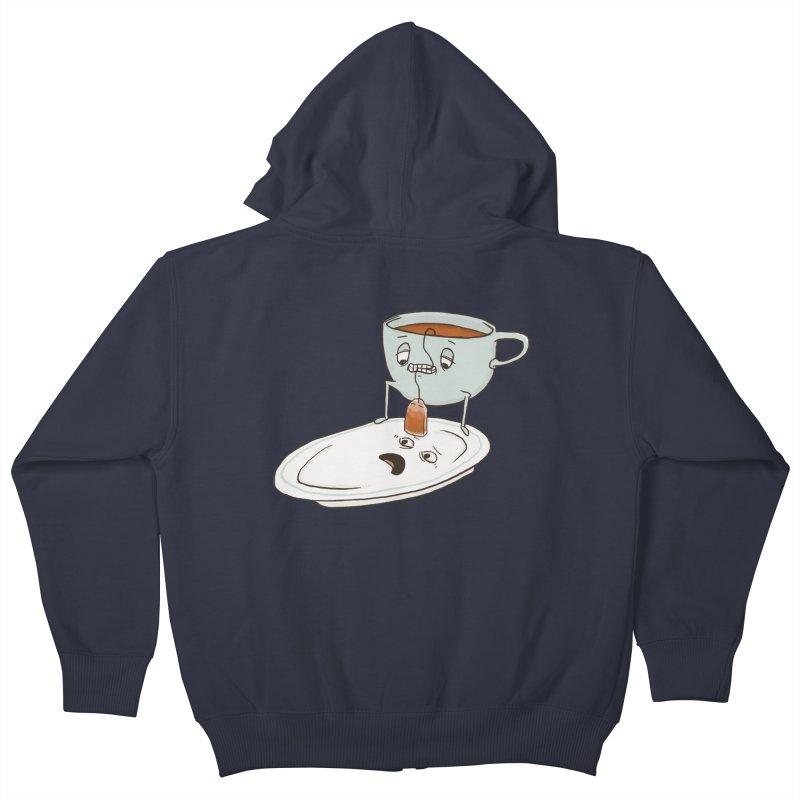 Tea Baggin' Kids Zip-Up Hoody by phildesignart's Artist Shop