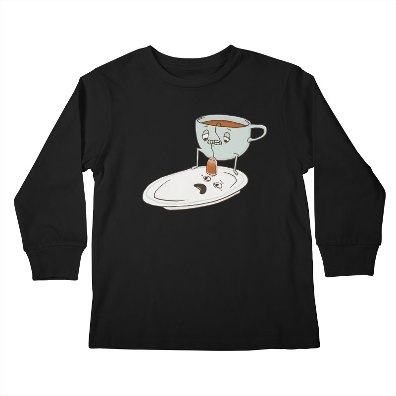 Tea Baggin' Kids Longsleeve T-Shirt by Phildesignart