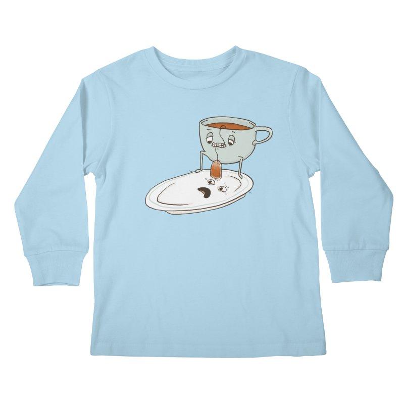 Tea Baggin' Kids Longsleeve T-Shirt by phildesignart's Artist Shop