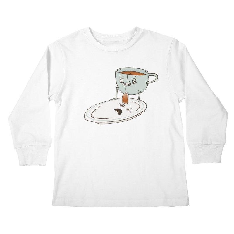 Tea Baggin' Kids Longsleeve T-Shirt by Phildesignart