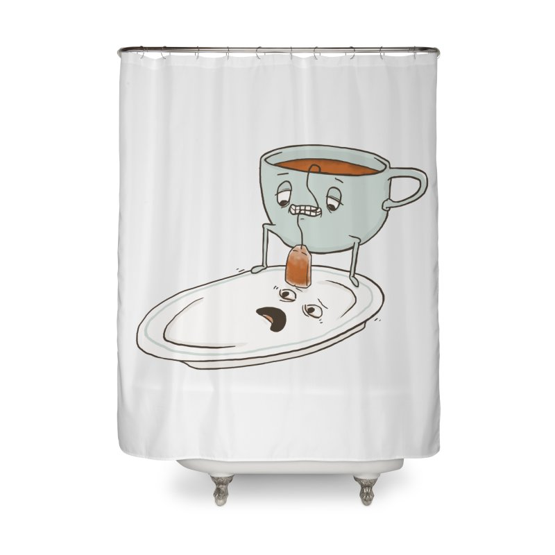 Tea Baggin' Home Shower Curtain by Phildesignart