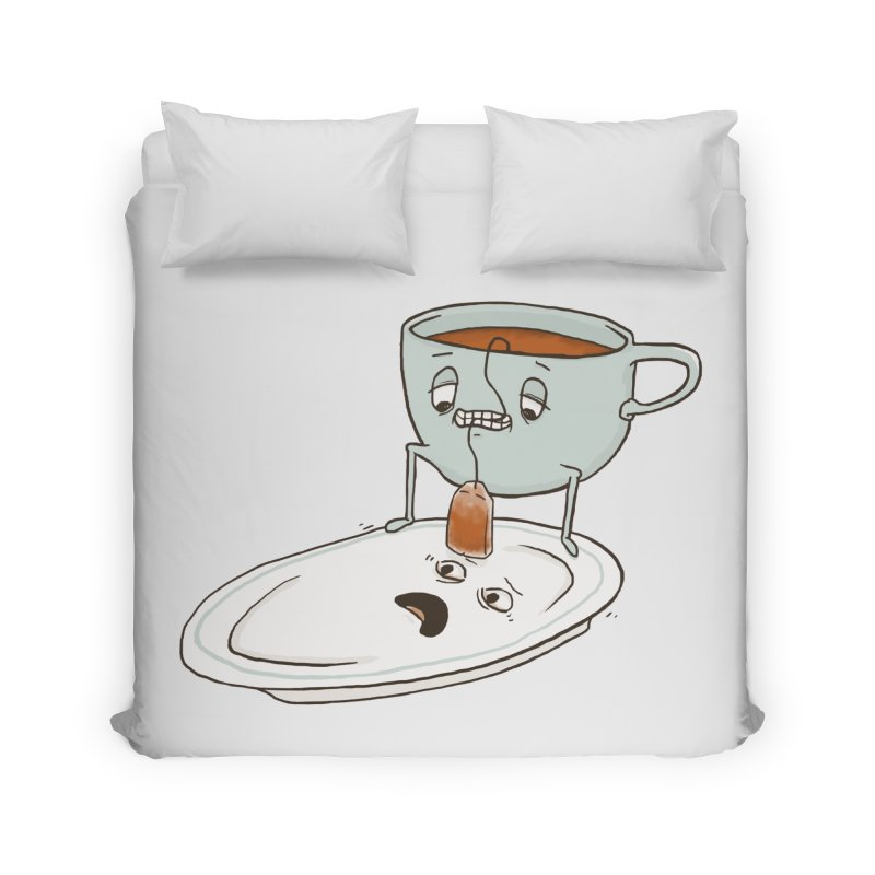 Tea Baggin' Home Duvet by Phildesignart
