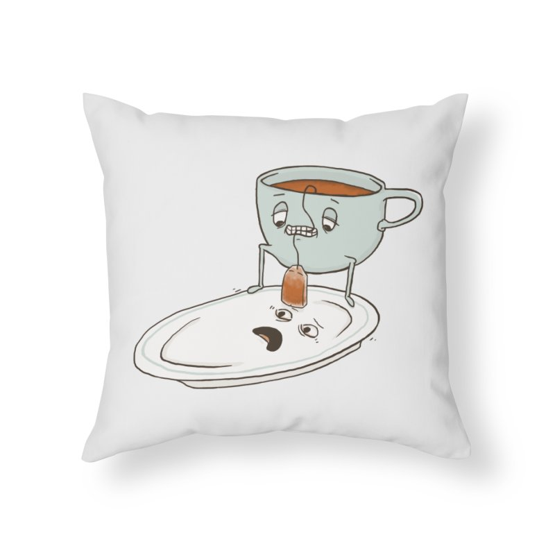 Tea Baggin' Home Throw Pillow by Phildesignart