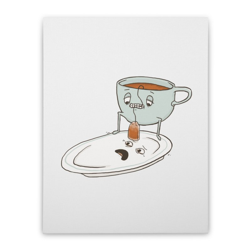 Tea Baggin' Home Stretched Canvas by phildesignart's Artist Shop