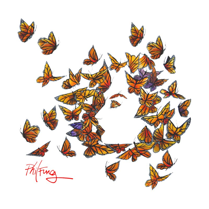 Butterfly Kiss by Phil Fung T-shirt Shop