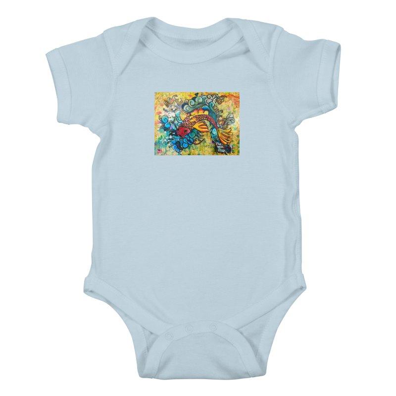 Wish Fish Kids Baby Bodysuit by Phil Fung T-shirt Shop
