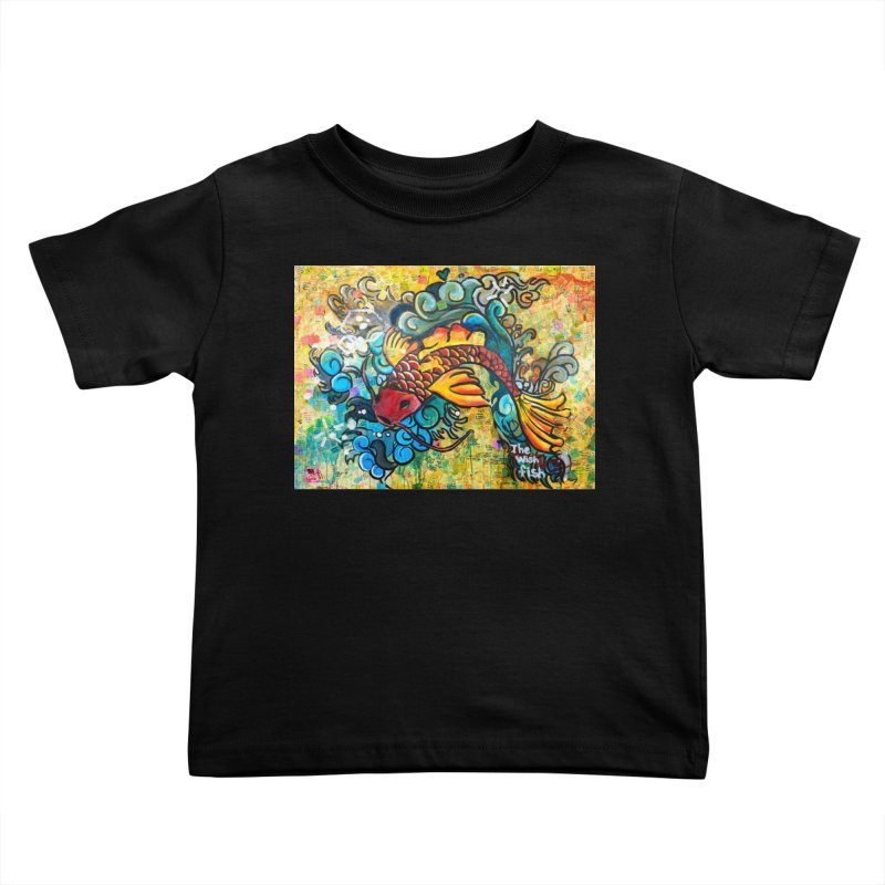 Wish Fish Kids Toddler T-Shirt by Phil Fung T-shirt Shop