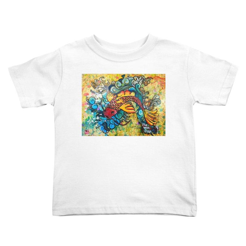 Wish Fish Kids Toddler T-Shirt by Phil Fung T-shirt Shop