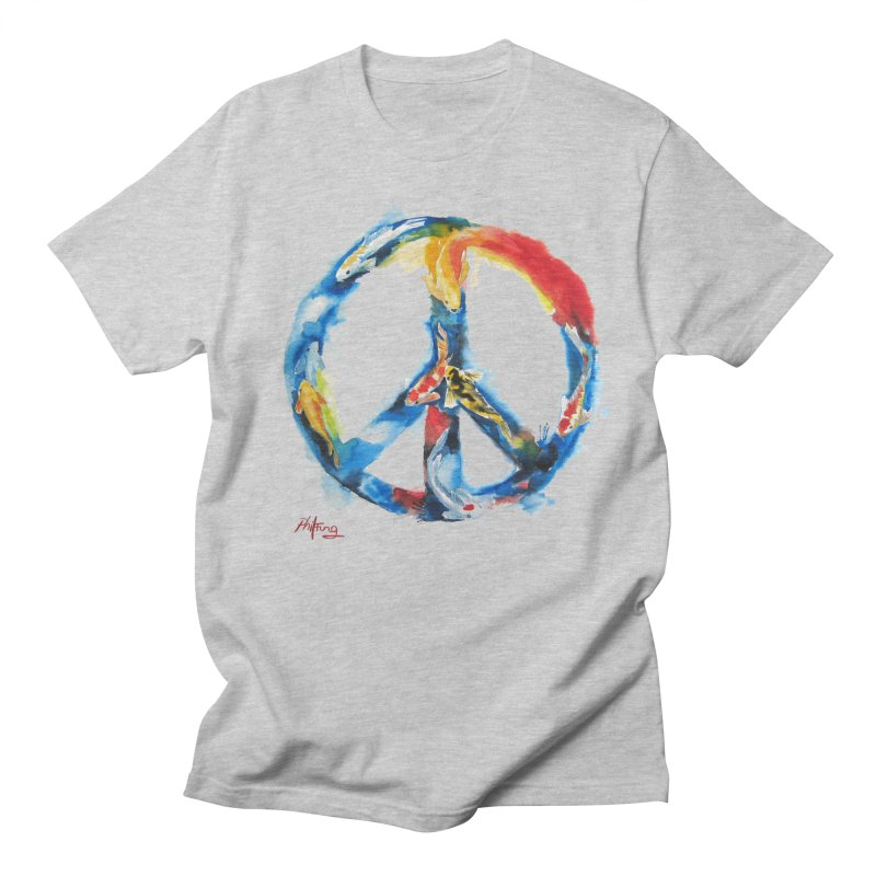 Peace Koi Men's Regular T-Shirt by Phil Fung T-shirt Shop