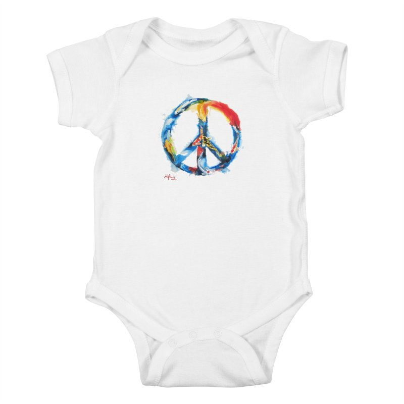 Peace Koi Kids Baby Bodysuit by Phil Fung T-shirt Shop