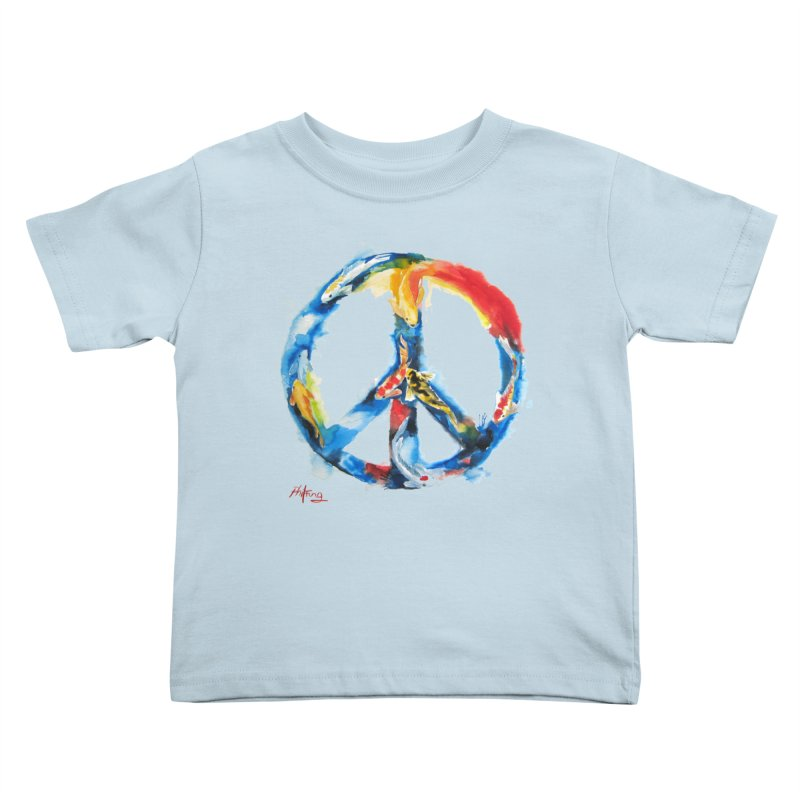 Peace Koi Kids Toddler T-Shirt by Phil Fung T-shirt Shop