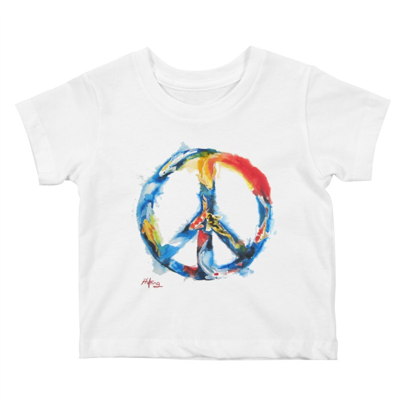Peace Koi Kids Baby T-Shirt by Phil Fung T-shirt Shop