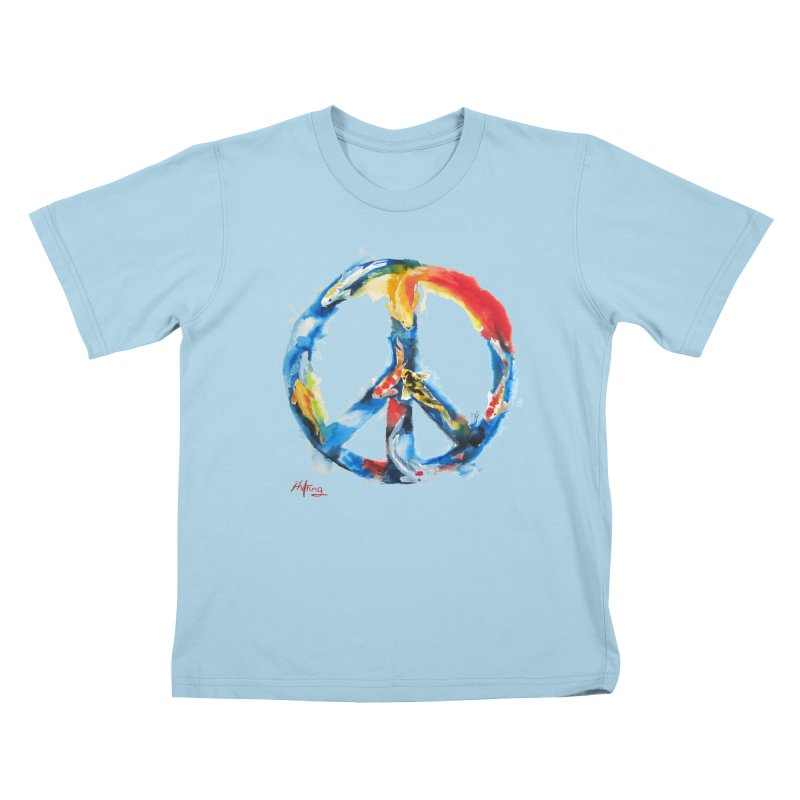 Peace Koi Kids T-Shirt by Phil Fung T-shirt Shop