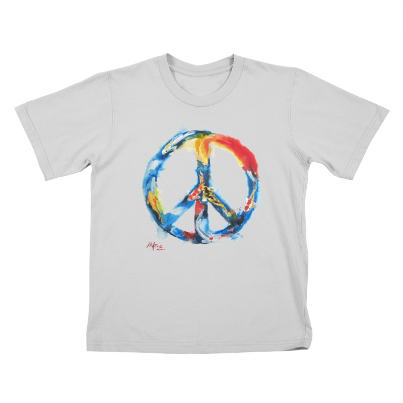 Peace Koi Kids T-Shirt by Phil Fung T-shirt Shop