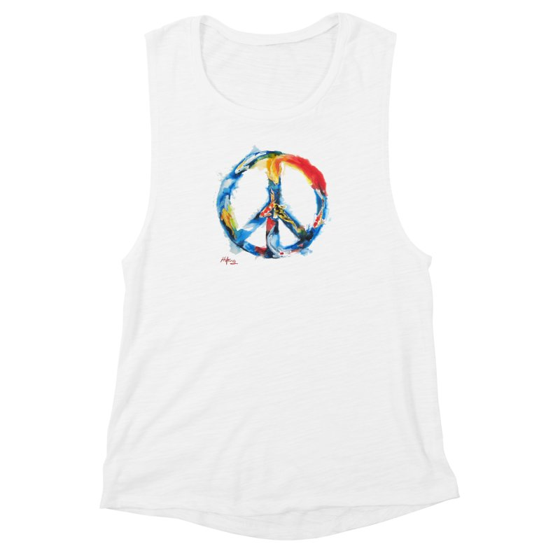 Peace Koi Women's Muscle Tank by Phil Fung T-shirt Shop