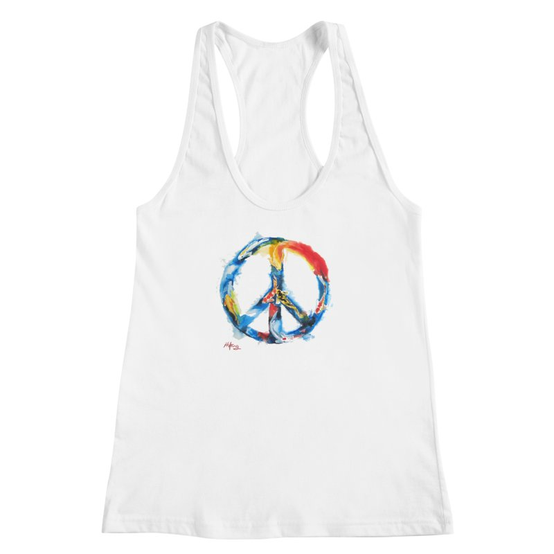 Peace Koi Women's Racerback Tank by Phil Fung T-shirt Shop