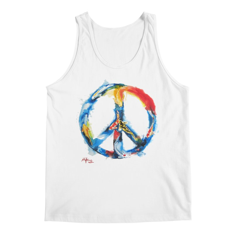 Peace Koi Men's Regular Tank by Phil Fung T-shirt Shop