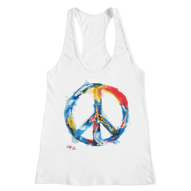 Peace Koi Women's Racerback Tank by Phil Fung T-shirt Shop