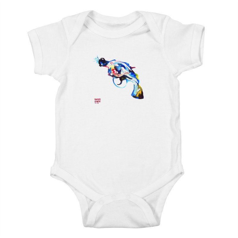Watergun Kids Baby Bodysuit by Phil Fung T-shirt Shop