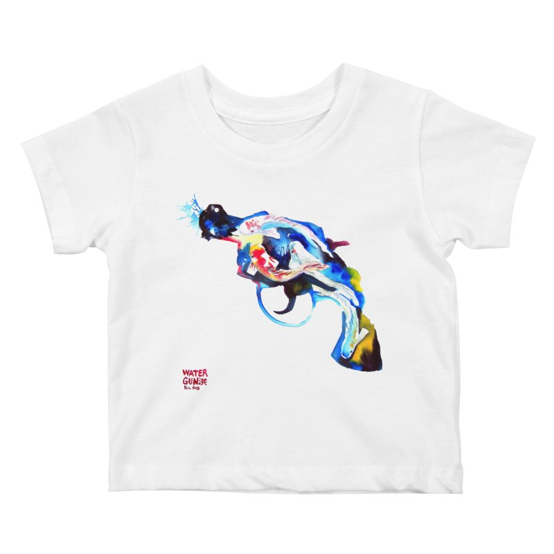 Watergun Kids Baby T-Shirt by Phil Fung T-shirt Shop