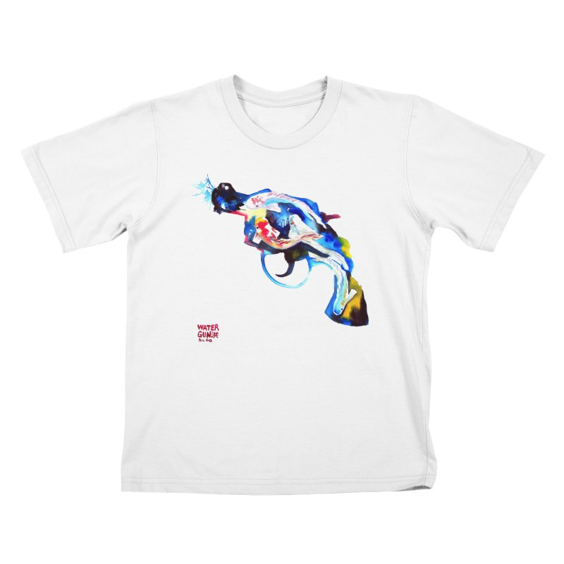 Watergun Kids T-Shirt by Phil Fung T-shirt Shop