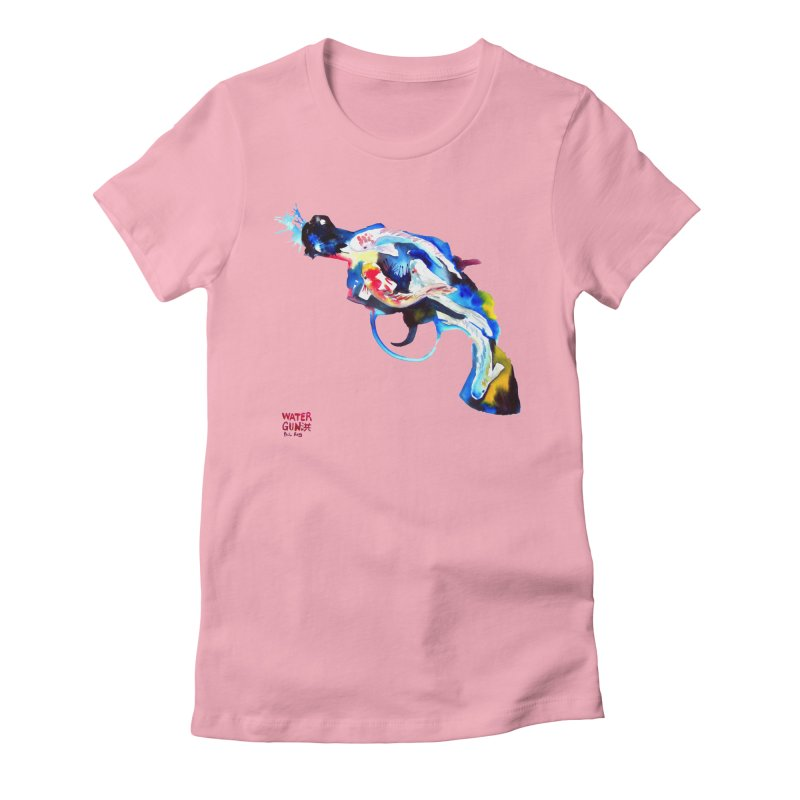 Watergun Women's Fitted T-Shirt by Phil Fung T-shirt Shop
