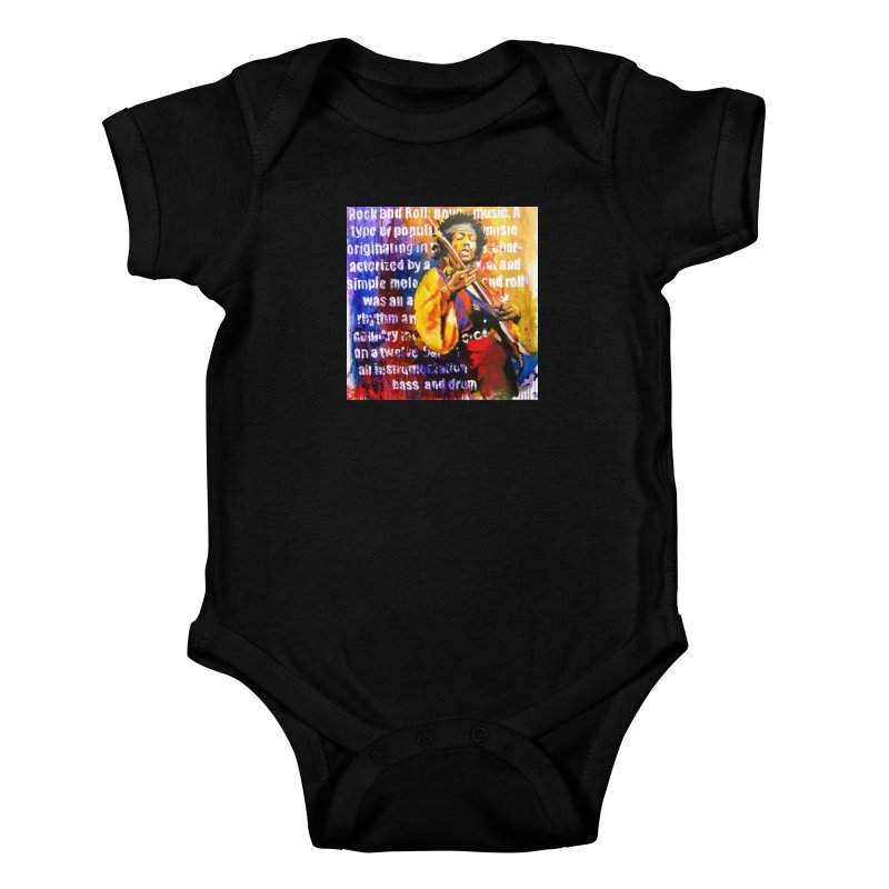 Definition of Rock & Roll Kids Baby Bodysuit by Phil Fung T-shirt Shop