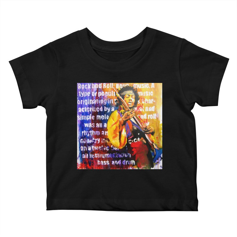Definition of Rock & Roll Kids Baby T-Shirt by Phil Fung T-shirt Shop