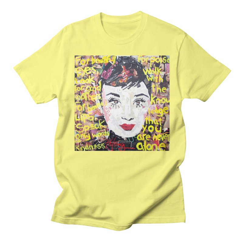 Pieces of Audrey Men's T-Shirt by Phil Fung T-shirt Shop