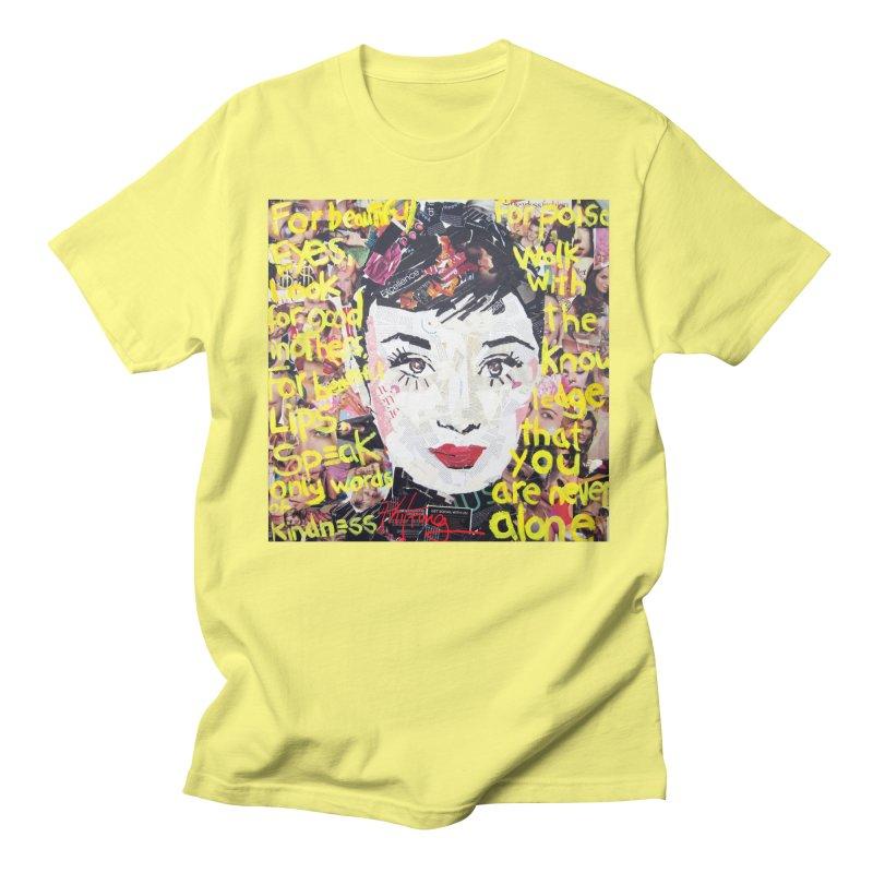 Pieces of Audrey Men's T-Shirt by Phil Fung T-shirt Shop