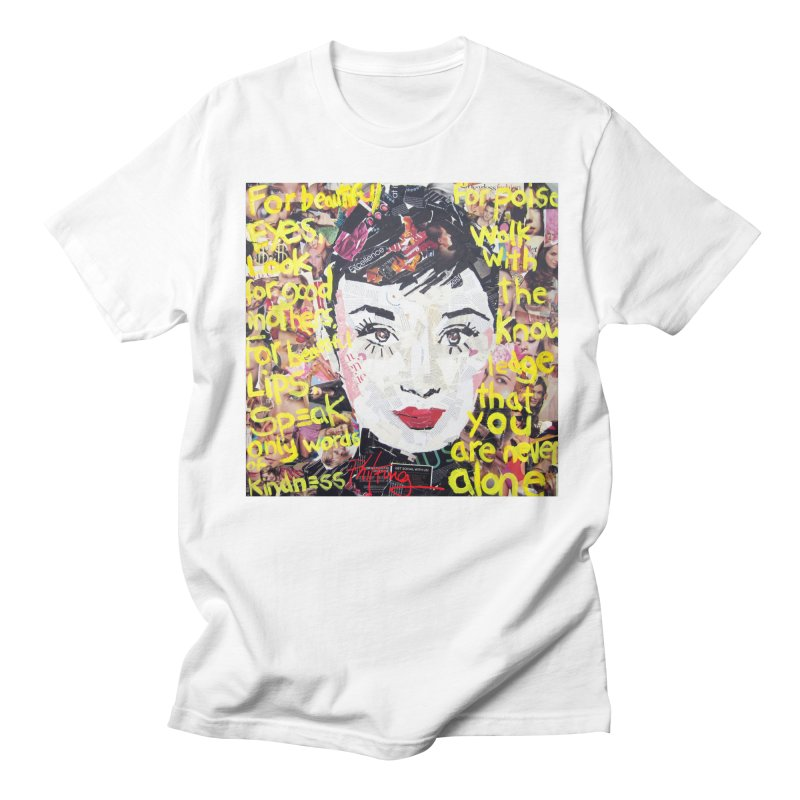 Pieces of Audrey Men's Regular T-Shirt by Phil Fung T-shirt Shop