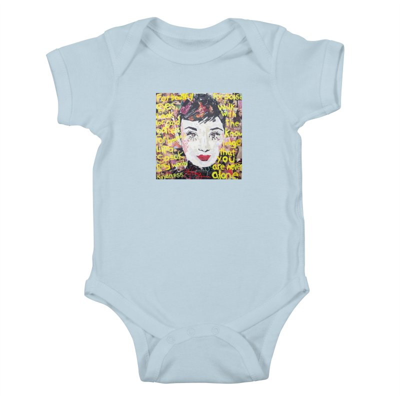 Pieces of Audrey Kids Baby Bodysuit by Phil Fung T-shirt Shop