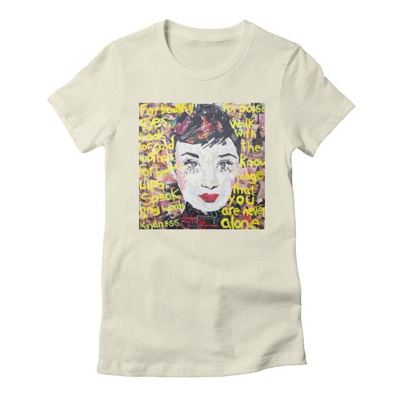 Pieces of Audrey Women's Fitted T-Shirt by Phil Fung T-shirt Shop