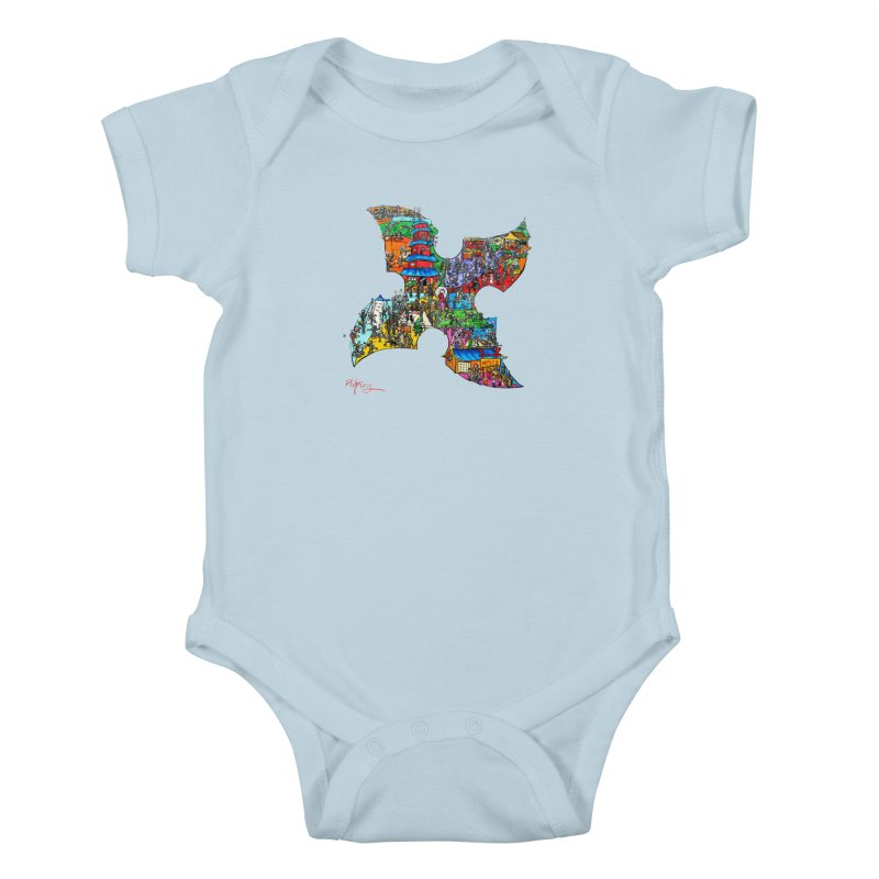 Ninja Pop Kids Baby Bodysuit by Phil Fung T-shirt Shop