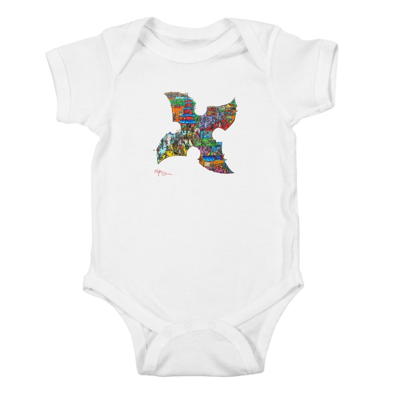 Ninja Pop Kids Baby Bodysuit by Phil Fung T-shirt Shop